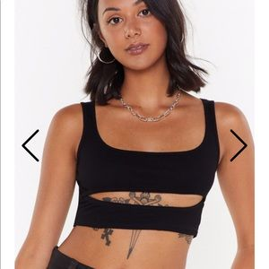 NastyGal cut out cropped tank top